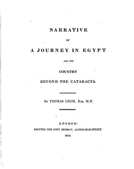 Narrative of a Journey in Egypt and the Country Beyond the Cataracts PDF