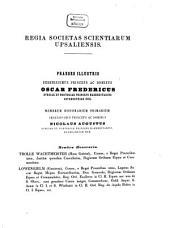 Nova acta Regiae Societatis Scientiarum Upsaliensis: Volume 1