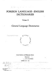Foreign Language English Dictionaries  General language dictionaries PDF