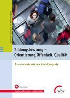 Bildungsberatung   Orientierung  Offenheit  Qualit  t PDF
