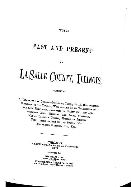 The Past and Present of La Salle County  Illinois PDF