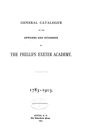 General Catalogue of Officers and Students, 1783-1903