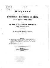 Abha Dlung über die ciceronische Auffassung und formelle Behandlung der unabhängigen Neben- und Zwischensätze in der direction Rede, oder über den Unterschied der geistigen Personen im Ciceroni-Anismus