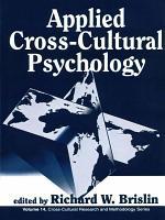 Applied Cross Cultural Psychology PDF