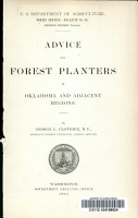 Advice for Forest Planters in Oklahoma and Adjacent Regions PDF