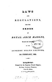 Laws and regulations. Revised, 5th Feb. 1823