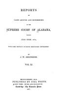 Reports of Cases Argued and Determined in the Supreme Court of Alabama PDF