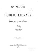 Catalogue of the Public Library  1892 PDF