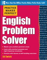 Practice Makes Perfect English Problem Solver  EBOOK  PDF