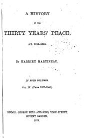 History of the Thirty Years' Peace. A: Volume 4