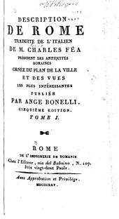 Description de Rome traduite de l'italien: Volume 1