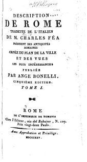 Description de Rome traduite de l'italien: Volume1