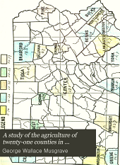 A Study of the Agriculture of Twenty-one Counties in Pennsylvania