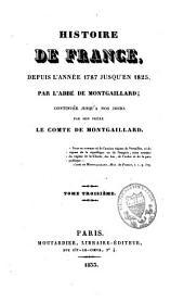 Histoire de France: depuis 1787 à 1825, Volume3