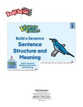 Sentence Structure and Meaning--Build a Sentence Literacy Center