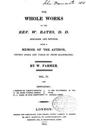 The Whole Works of the Rev. W. Bates: Volume 4