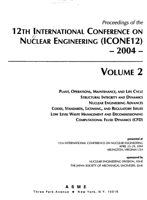 Proceedings of the 12th International Conference on Nuclear Engineering ICONE 12 PDF
