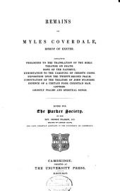 Remains of Myles Coverdale