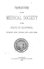 Transactions of the Session of the Medical Society of the State of California: Volume 9