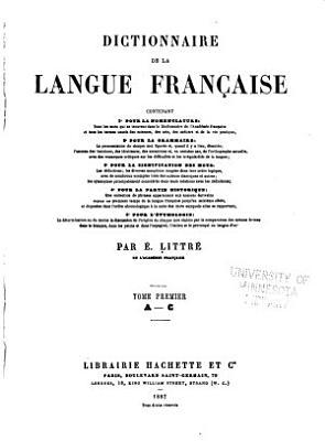 Dictionnaire de la langue fran  aise contenant PDF