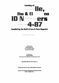 Catalog of Chevelle  Malibu   El Camino ID Numbers  1964 87