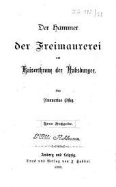 Der hammer der Freimaurerei am Kaiserthrone der Habsburger