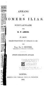 Anhang zu Homers Ilias: Band 4