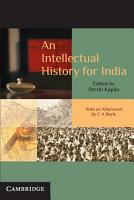An Intellectual History for India PDF
