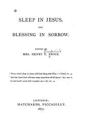 Sleep in Jesus and Blessing in Sorrow