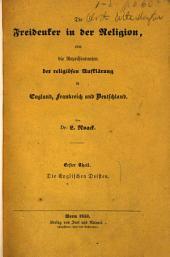 Die freidenker in der religion, oder die repräsentanten der religiösen aufklarung in England, Frankreich und Deutschland: Die englischen deisten