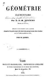 Géométrie élémentaire refaite d'après les principes du nouveau programme des études sur la 1re édition publiée en 1826