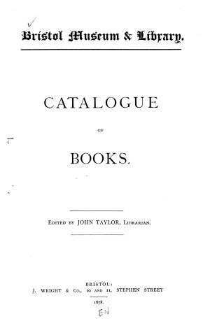 Catalogue of Books