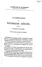 Sur la confession manuscrite de Balthazar Gérard conservée aux archives du royaume