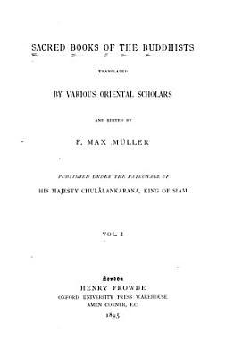 Sacred Books of the Buddhists PDF