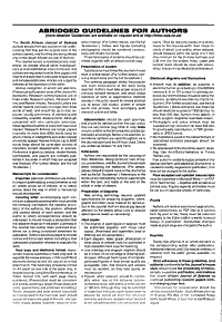South African Journal of Science PDF