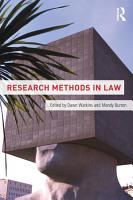 Research Methods in Law PDF