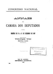 Anais da Cḿara dos Deputados: Volume 8
