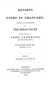 Reports of Cases in Chancery, Argued and Determined in the Rolls Court: During the Time of Lord Langdale, Master of the Rolls, Volume 2