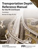Transportation Depth Reference Manual for the Pe Civil Exam PDF