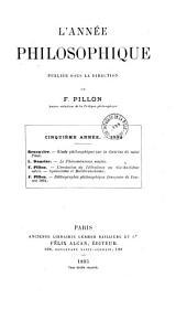 L'Année philosophique