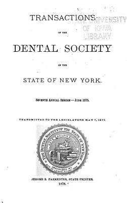 Transactions of the Dental Society of the State of New York PDF