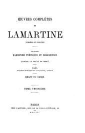 Méditations poétiques: Socrate, Harold, Harmonies, Saül, le Sacre, Jocelyn, Epîtres, Volume3
