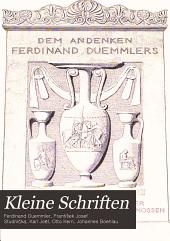 Kleine Schriften: Bd. Zur griechischen Philosophie [hrsg. von Karl Joël