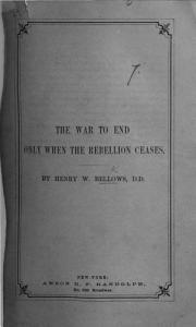 The War to End Only when the Rebellion Ceases PDF