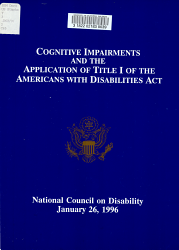 Cognitive Impairments And The Application Of Title I Of The Americans With Disabilities Act Book PDF