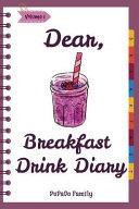 Dear  Breakfast Drink Diary PDF