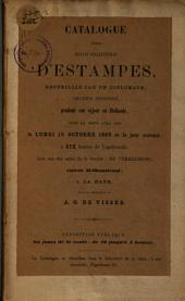 Catalogue d'une belle collection d'estampes
