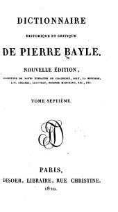 Dictionnaire historique et critique de Pierre Bayle: Volume7