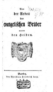 Von der Arbeit der evangelischen Brüder unter den Heiden