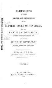 Reports of Cases Argued and Determined in the Supreme Court of Tennessee: Volume 69
